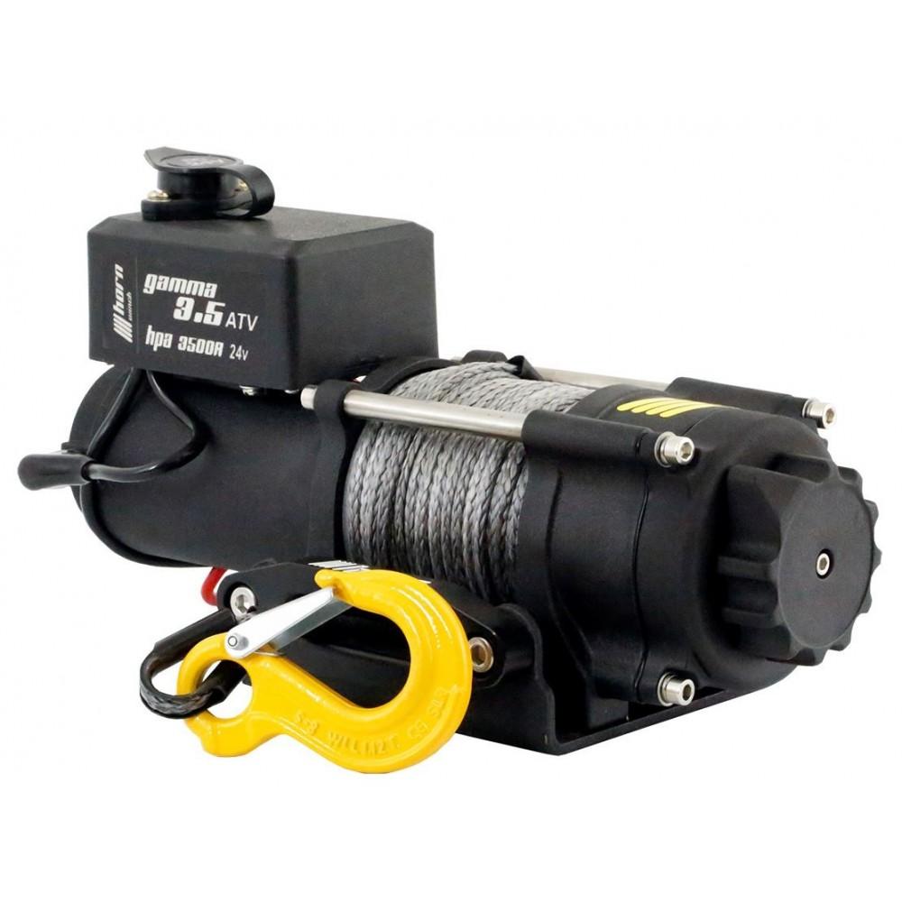 Seilwinde 1,6 t Gamma 3.5 ATV 12V Kunststoffseil Elektrowinde