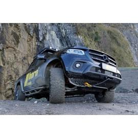 Seilwindensystem Alpha 9.9 für Mercedes X 250 Body Lift 10cm 4,3to Zugkraft Elektrowinde Seilwinde 12V horntools