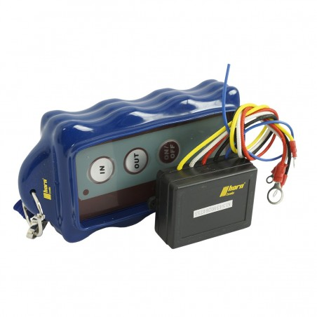 Cable winches radio remote control blue, electric winch internal 12V horntools