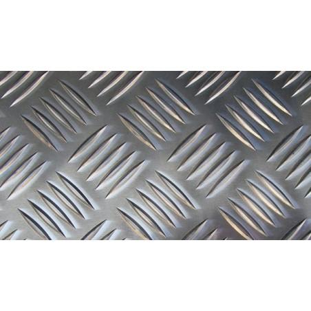 plaque d'aluminium avec quintuple bosses diagonal de quadrillage - AlMg3