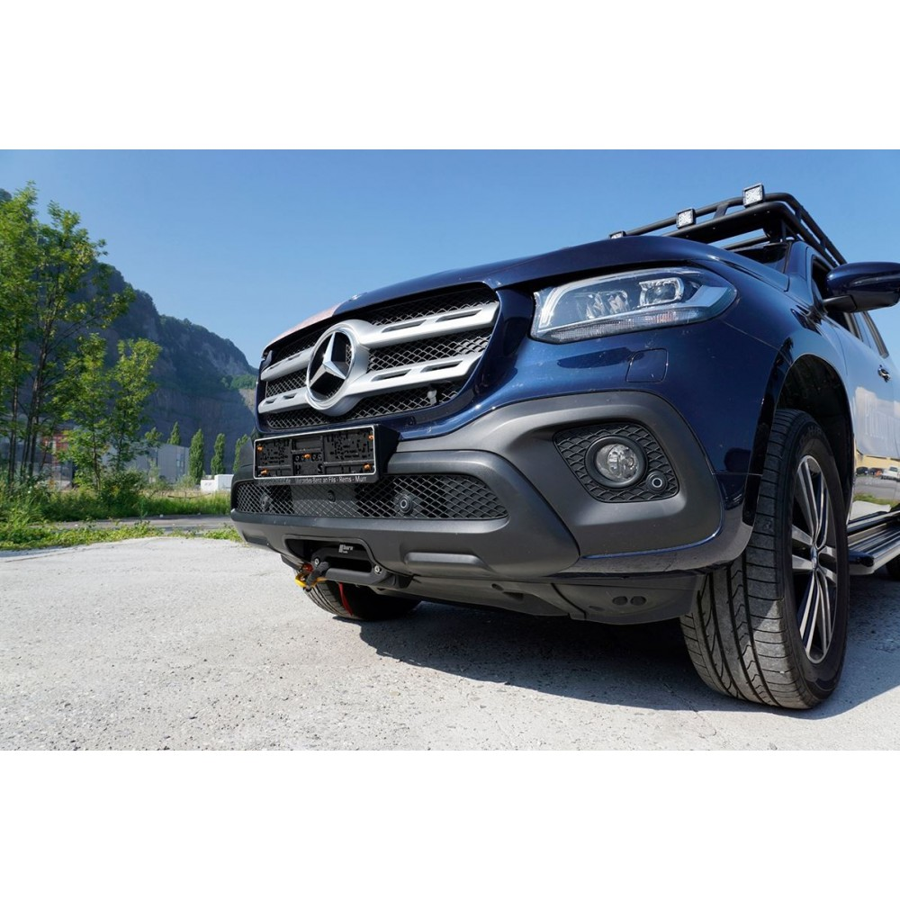 Mercedes X-250, Seilwindensystem Alpha 9.9 für 4,3t Zugkraft Elektrowinde Seilwinde 12V horntools