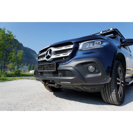 Mercedes X-250, cable winch system Alpha 9.9 for 4,3t pulling force electric winch cable winch 12V horntools
