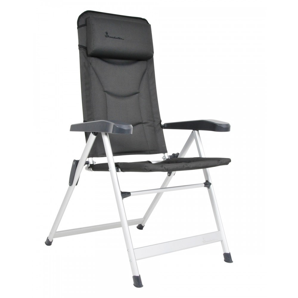 Folding armchair - high back, Isabella LOKE dark grey