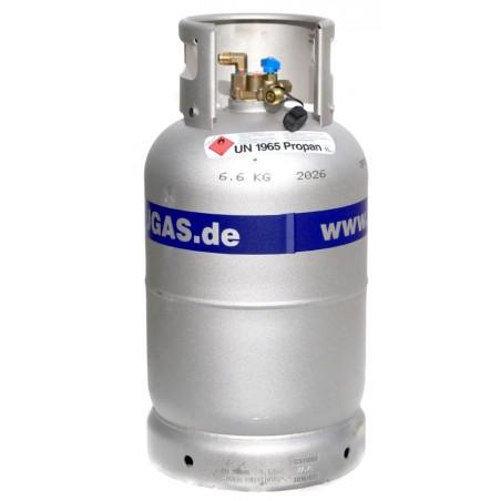 ALUGAS - Aluminium Tankgasflasche 11 kg wiederbefüllbar TRAVELmate