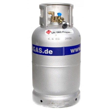Alugas - bouteille de gaz en alu 11 kg remplissage TRAVELmate