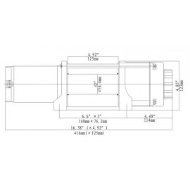 Seilwinde 2,0 t Gamma 4.6 ATV 12V Kunststoffseil horntools Elektrowinde