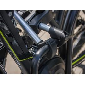 Abnehmbarer Rahmenhalter, kurz, abschließbar, ø 25mm