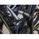 Abnehmbarer Rahmenhalter, lang, abschließbar, ø 25mm