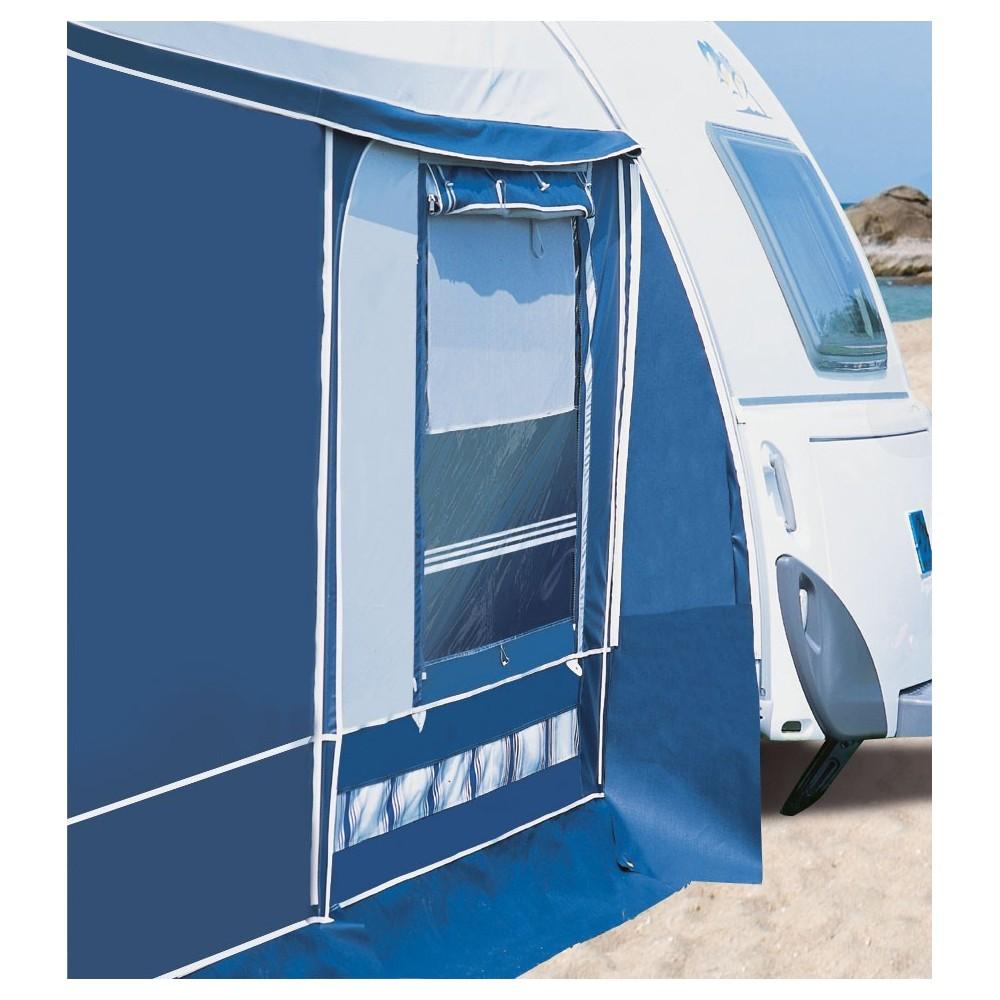 Aeropackage awning by Herzog for aerodynamic caravans