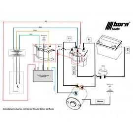 Seilwinde 5,4to Alpha 12.0 Quick 12V Kunststoffseil horntools Zeichnung