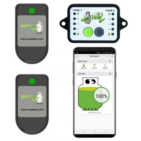 Gasflaschen Inhalt-Anzeige (2-er Set) Level Check + Monitor Bluetooth Mopeka