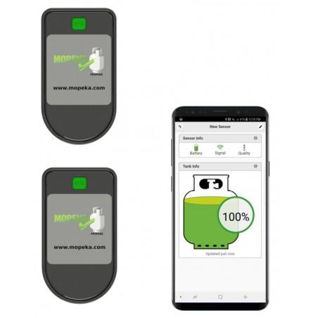 Gasflaschen Inhalt-Anzeige (2-er Set) Level Check Bluetooth Mopeka