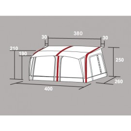 Westfield Jupiter 750 Basic (Middle section) Air tent Awning Caravan Part tent