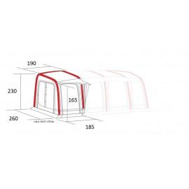 Westfield Jupiter 750 (module left) Attachment left, air tent Awning Caravan