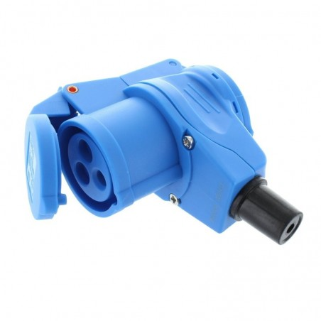 CEE female right angle connector Caravan with earthing contact Socket on rear side