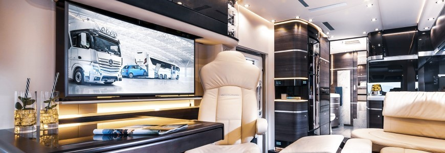 Unterhaltungselektronik Kinoerlebnis im Caravan, Reisemobil